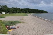 Strand mit großer Liegewiese