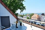 Balkon mit Fördeblick!