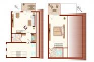 Grundriss untere und obere Etage