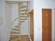 Wendeltreppe in den oberen Wohnbereich