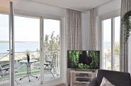 der Balkon mit  direktem Meerblick