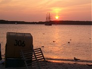 Traumfhafte Sonnenuntergänge am Strand