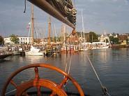 die Nähe zum Hafen