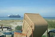 beste Lage um den Schiffsverkehr zu beobachten