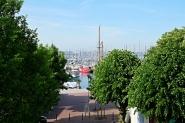 Der Hafen in unmittelbarer Nähe